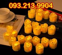 Nến tea light tạo hình sáp chảy tim lắc