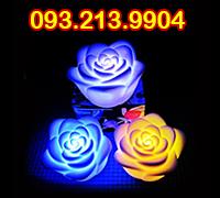 Đèn led hoa hồng đổi màu