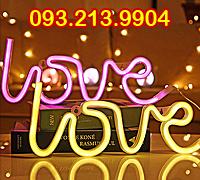 Đèn led neon Love trang trí